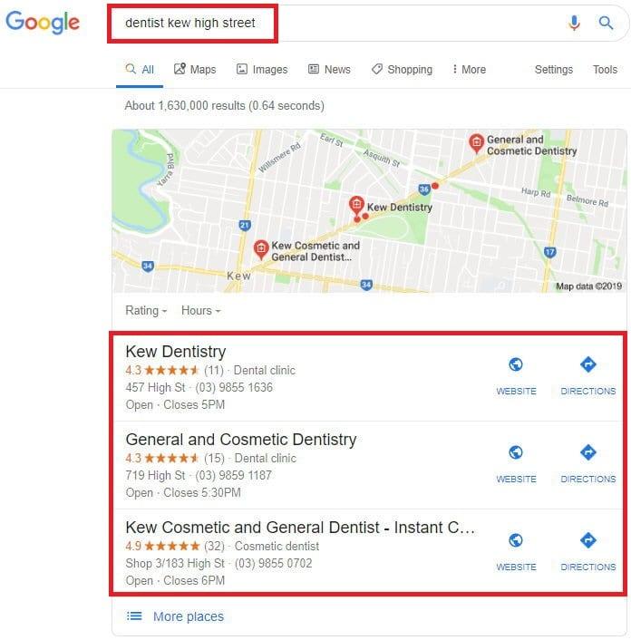 dental search