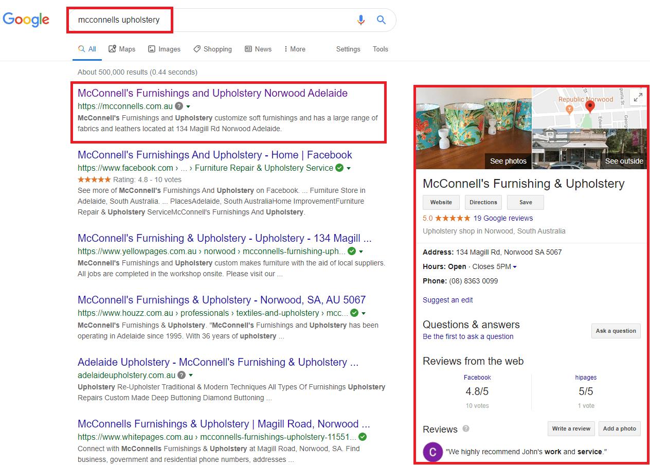google local name search